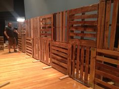 wood pallet church stage - Google Search