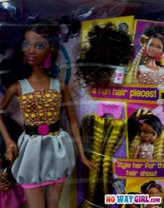 Barbie Comes With Weave Now?