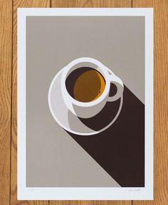 espresso screen print  Lost Fox