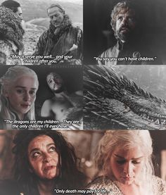 """Game of Thrones ♡ """"Only death may pay for life."""" Anyone else notice the unusual amount of references towards heirs in the previous episode? #daenerystargaryen #Dragon #witch #TyrionLannister #JonSnow"""