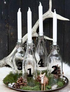 DIY Advent Kerzenhalter