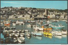 St Ives Harbour, Cornwall, c.1970s - Jarrold Postcard