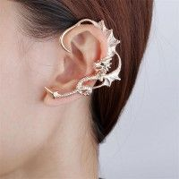 Super Cool Flying Dragon Gold Plated Alloy Woman's Ear Cuff