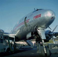 Star of Tripoli waiting for her passengers - TWA L-049 Constellation