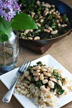 Collard greens and beans / Recipe