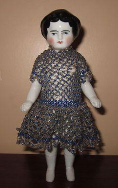 Rare Old Vintage Frozen Charlotte Antique Victorian Ceramic Porcelain Doll 1870s   eBay