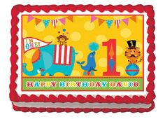 CIRCUS PARTY Edible image cake topper 14 by Galimelisworld