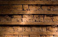 detalhe de parede com cobertura de taipa de mão : : tekoa ytu