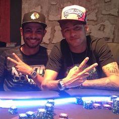 """""""Parabéns @nego_moura muitas felicidades """"docinho"""" Hahahahaha Tamo junto !! Meu freguês no Poker kkkkk"""" neymar jr via instagram ♥ 16.04.15"""