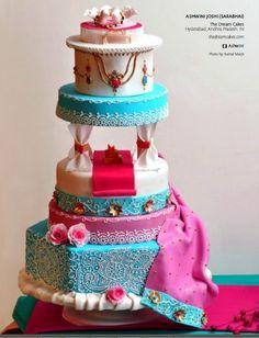 Bollywood theme wedding cake.
