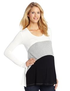 NOM Women's Long Sleeve Maternity Tunic, Black Colorblock, X-Small NOM Maternity http://www.amazon.com/dp/B00DR7892E/ref=cm_sw_r_pi_dp_k.yiub15DK87M