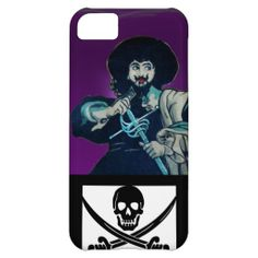 THE BLACK CORSAIR SKULL CROSSED SWORDS iPhone 5C COVERS
