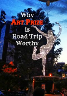 Art Prize lasts for 3 weeks in Grand Rapids, Michigan. Artist come from all over the world to compete in the World's Largest Art Contest.