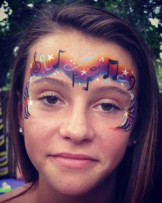 Musical Tiara Face Paint Design.