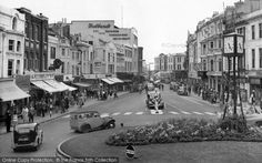 Photo of Worthing, South Street from Francis Frith Vintage Pictures, Old Pictures, Old Photos, Local History, British History, Worthing, History Photos, Brighton, Places To Go