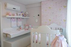 Quarto bebê amarelo e rosa #projetojunejaim