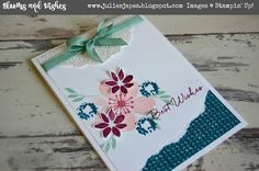 Julie Kettlewell - Stampin Up UK Independent Demonstrator - Order products 24/7: Blooms and Wishes for Stamp a Stack