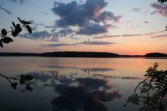 Sunset at Sälevä lake