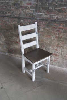 Chair Farm Chair Ladder Back Chair Wooden Chair Stained Chair