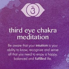 """Instagram media by love_and_light_therapy - Third Eye Chakra or the Brow Chakra is the 6th Chakra and is responsible to what we refer to as """"the sixth sense"""". This Chakra connects us to our internal intuitions and is responsible for the sharp senses, the"""