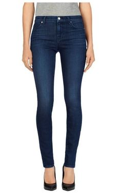 J BRAND 620 Mid Rise Slim Sexy Super Skinny Jeans Pants Dark Blue in Fix 25 $227 #JBrand #SlimSkinny