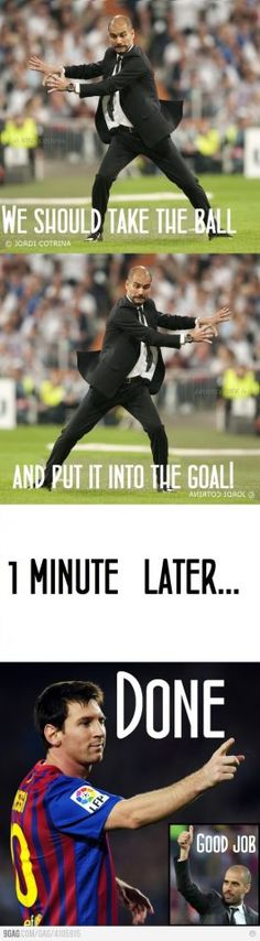 This is how it worked with #Pep... #FCB