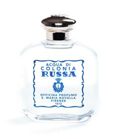 Santa Maria Novella RUSSIAN Cologne. Long considered a typically male fragrance, this fresh and zesty scent with its decisive aroma of bitter orange, bergamot, and musk is now being worn by men and women alike.