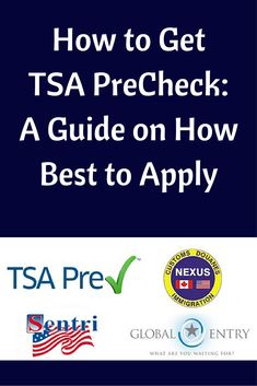 There are 4 ways to get TSA Precheck. Find out which method is the best one for you. #tsa #tsaprecheck