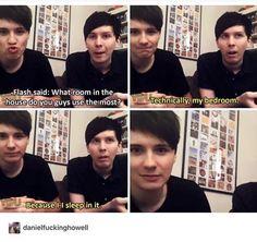 Dan:*omfgyoualmostkillesusbothomfgyouaresoluckyhesusfuck* Phil.*ohfluffthatwassocliseoygodomygod*