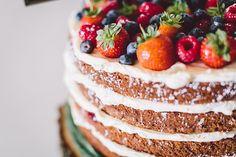 Summer fruits wedding cake | onefabday.com