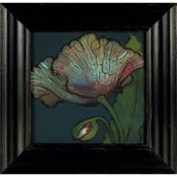 Beautifully framed tile from Rookwood Pottery
