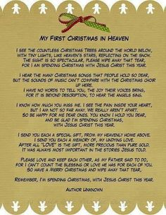 for those that have lost a loved one this year.