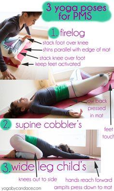 3 yoga poses to combat PMS.