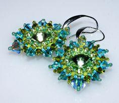 Ohrringe in blau/türkis