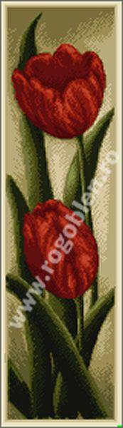 Cod produs: 17.48 Duet, lalele rosii Culori: 17 Dimensiune: 8 x 28 cm