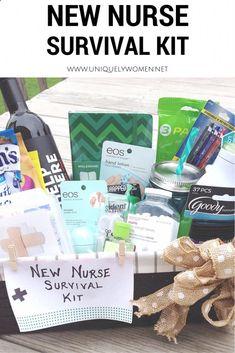 Nurse Graduation Gift DIY Gift Basket www.uniquelywomen...