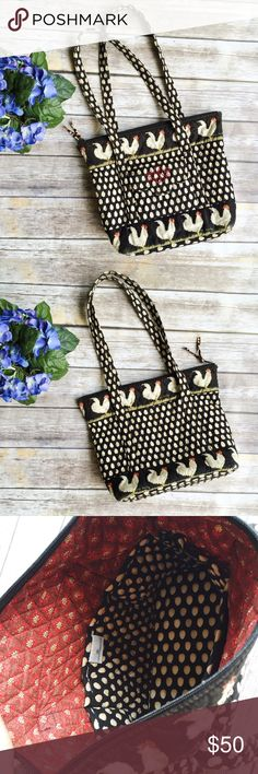 Vera Bradley Retired Chanticleer Jan '98-July '02 ★ Has a few wear spots as pictured, nothing majorly flawed. ★ Measurements available upon request ★ Reasonable Offers Accepted  ★ No Trades ★ No Modeling Vera Bradley Bags Shoulder Bags