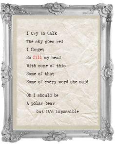 Bird Mad Girl - The Cure lyrics