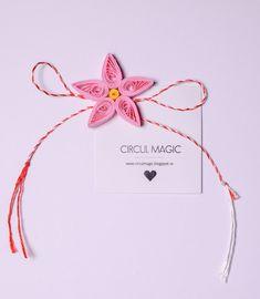 Martisoare Handmade 2018 Quilling - Circul Magic Quilling Flowers, Paper Flowers Diy, Diy Paper, Flower Diy, Diy Projects To Try, 8 Martie, Magic, Handmade, Hand Made