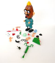 Vintage Mr. Potato Head from the 1960s. - I had the 80's version but I loved my Mr. Potato Head!