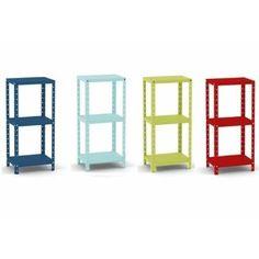 Estante De Aço Multi-uso Pequena 90x40x30 Colorida - R$ 94,00