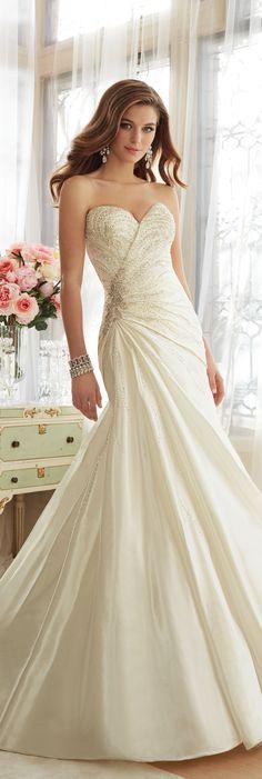 The Sophia Tolli Spring 2016 Wedding Dress Collection - Style No. Y11638 - Basilia #tafettaweddingdress