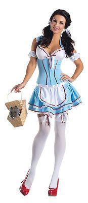 new adults womens sexy kansas dorothy wizard of oz dress costume xlarge - Dorothy Halloween Costume Women