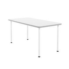 "White Simple Rectangular Table, 60"" Long,White"