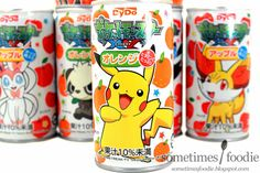 Gotta Drink 'em All! - Pokemon X & Y Fruit Drinks Japanese Drinks, Japanese Snacks, Japanese Candy, Japanese Food, Pokemon Snacks, Pokemon Party, All Pokemon, Japanese Packaging, Play The Video