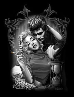 Destiny By David Gonzales Art Canvas Giclee Marilyn Monroe James Dean Retro Vintage Pinup Marilyn Monroe Tattoo, Marilyn Monroe Kunst, Marilyn Monroe Wallpaper, Marilyn Monroe Quotes, James Dean Marilyn Monroe, Marylin Monroe, Psychobilly, Evvi Art, Art Chicano