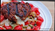 """Gourmet Girl Cooks: THREE-CHEESE Burgers (Not """"Three Cheeseburgers"""") & Cherry Blossoms"""