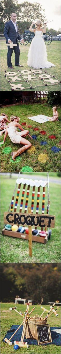 Outdoor Wedding Reception Lawn Game Ideas / http://www.deerpearlflowers.com/outdoor-wedding-reception-lawn-game-ideas/ #weddingideas