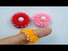 This video about:Hand Embroidery, Amazing Trick, Easy Flower Embroidery Trick, Sewing Hack, Crafts & Embroidery Welcome to my channel crafts & Embroidery! Hand Embroidery Videos, Hand Embroidery Flowers, Simple Embroidery, Embroidery Stitches, Embroidery Designs, Yarn Flowers, Crochet Flowers, Rakhi Making, Crochet Flower Tutorial