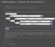 RedQueryBuilder - JavaScript SQL Query Builder UI